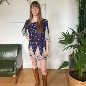 Umgee Print Swing Dress Size L